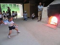 幼稚園 萩焼き窯焚き 9月5日(火)