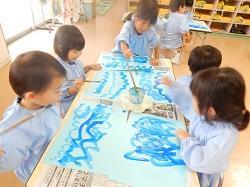 幼稚園 絵の具遊び 9月7日(木)