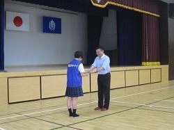 自転車ワイヤー錠贈呈式 6月7日(木)