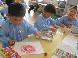幼稚園 トマトの絵 7月4日(水)