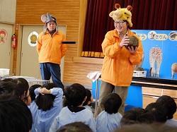 2/17(月) 幼稚園 移動動物園がきたよ!