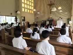 8/4(火)    高1  カトリック萩教会訪問