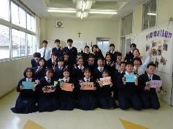 2/15(月)    中学校  3年生を送る会